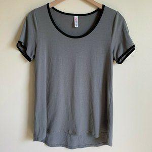 Lularoe Size S Gray Black Top Classic T Shirt